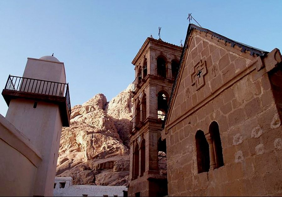 Saint Catherine's Monastery at the Sinai peninsula, Egypt. Credit: MOQUETTE AT ENGLISH WIKIPEDIA
