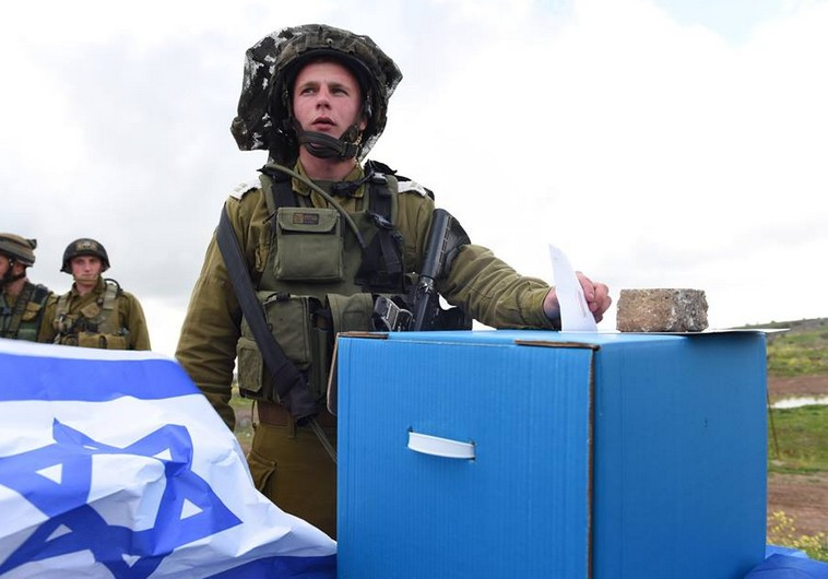 And of course, even the country's brave soldiers took time from their service to fill another important obligation (Photo: IDF spokesperson).