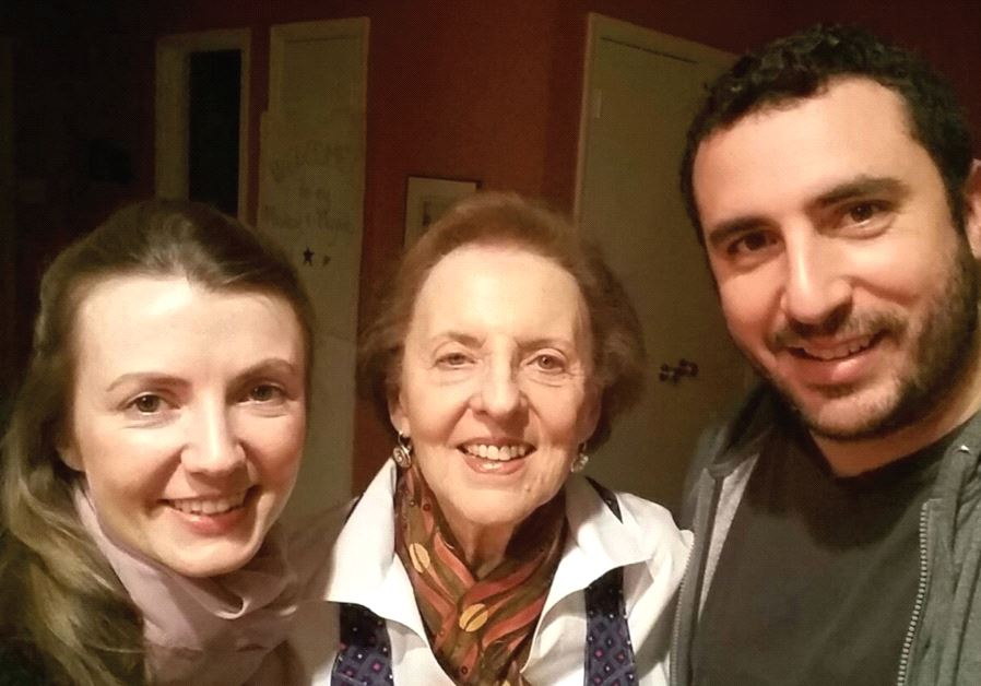 Berlin resident Maya Levy (left) with Israeli husband Micky and his 'yekke' grandmother Lisa (photo credit: MAYA LEVY)