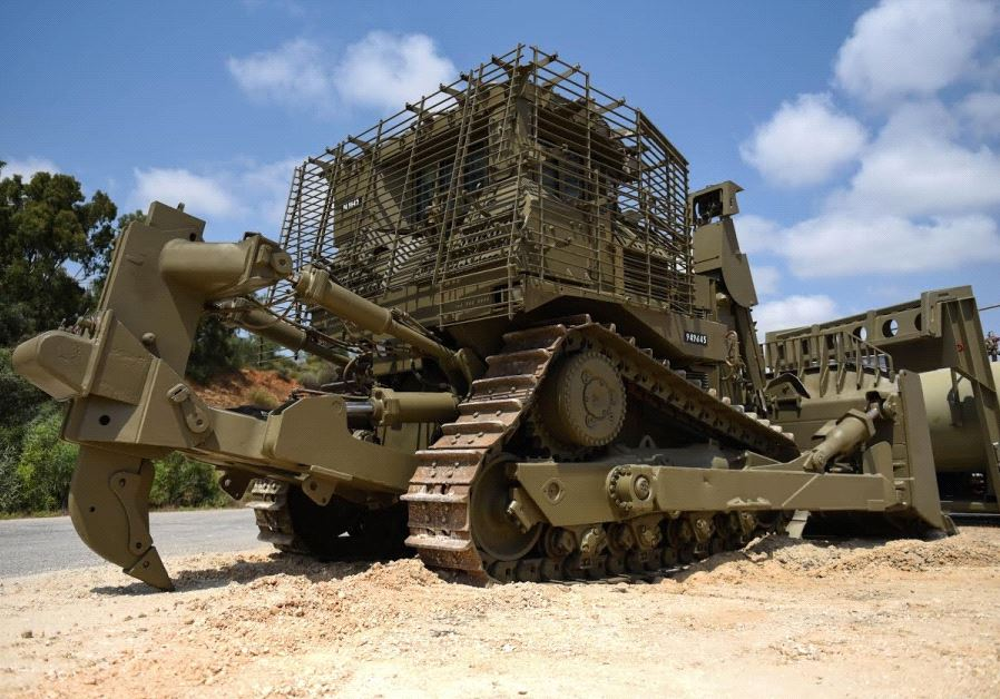 D9 Tractor (credit:  IDF SPOKESPERSON'S UNIT)