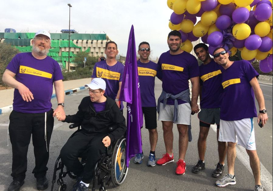 Israeli olympic medalist Ori Sasson raises money for Shalva, the Israel Association for Care and Inclusion of Persons with Disabilities (photo credit: SHALVA)