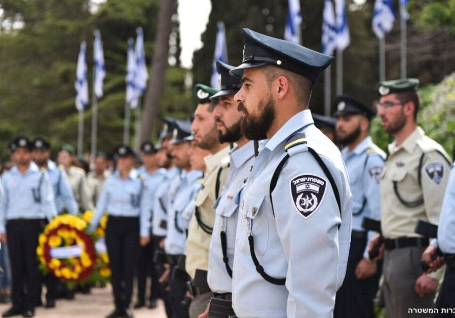 The official Memorial Day State Ceremony at Mt. Herzl Cemetery in Jerusalem (ISRAEL POLICE)