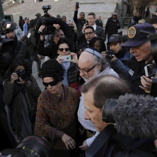 Israeli spy Jonathan Pollard leaves a federal courthouse in New York (Credit: Reuters)