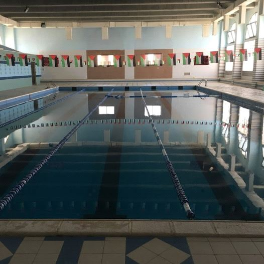 A pool at the YMCA in Beit Sahur, West Bank. (Credit: Yaakov Katz)
