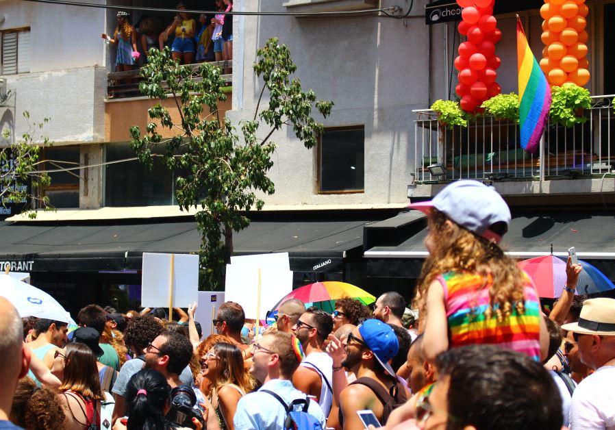 Tel Aviv Pride participants enjoying the celebrations, June 9 2017. (Courtesy)
