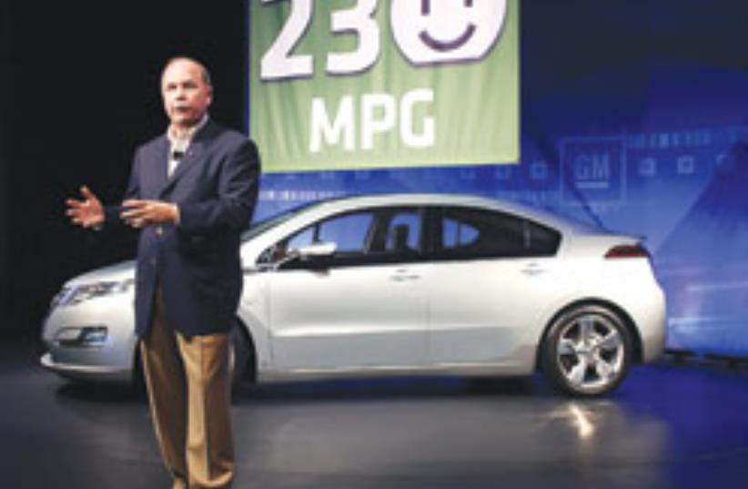 Fritz Henderson, GM's president and CEO, addresses (photo credit: AP)