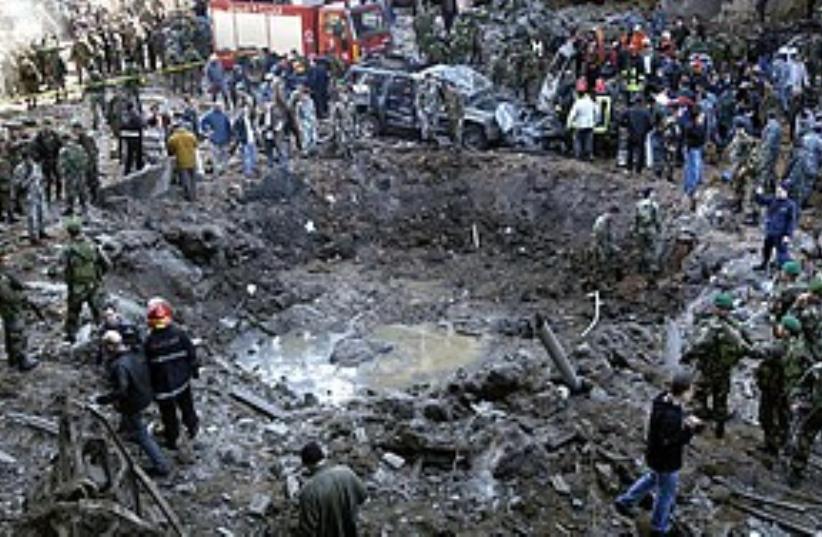 Hariri assassination 311 AP (photo credit: Associated Press)