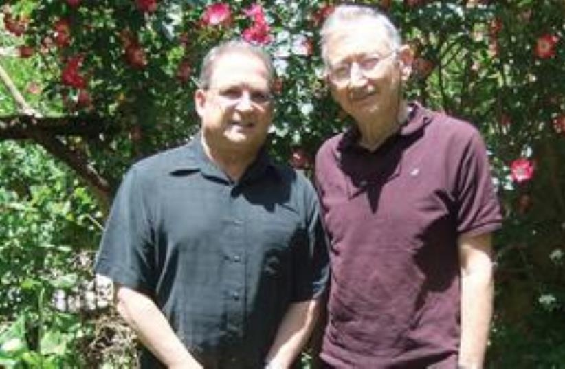 PROF. FRANK ANDRASIK (left) and Dr. David Wilensky (photo credit: Judy Siegel-Itzkovich)