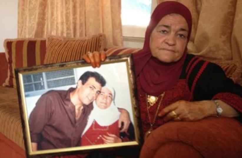 Mother of released Palestinian prisoner 370 (photo credit: NIDA TUMA)