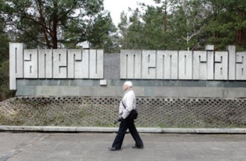 The Holocaust memorial at Paneriai near Vilnius, Lithuania (photo credit: INTS KALNINS / REUTERS)