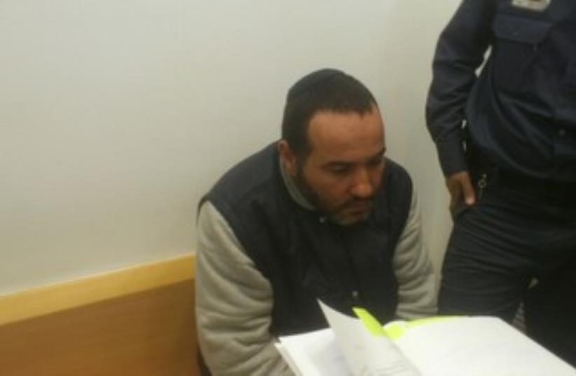 Mob boss Shalom Domrani in court 370 (photo credit: yonah jeremy bob)