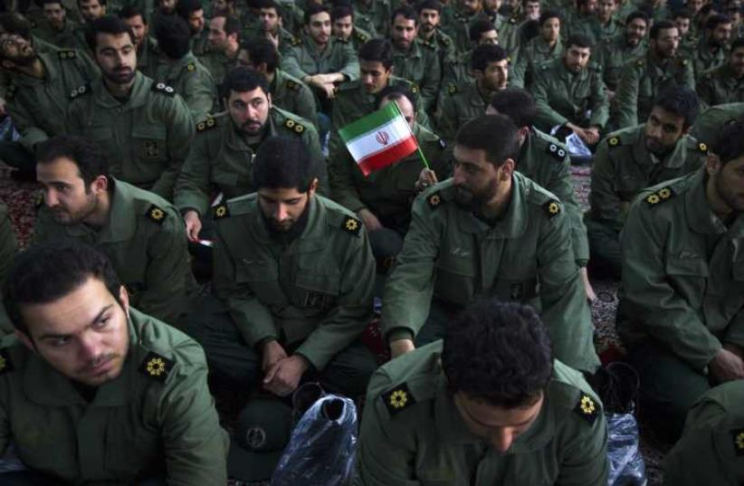 Members of the revolutionary guard (photo credit: REUTERS)
