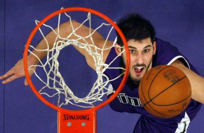 Israeli basketball star Omri Casspi of the Sacramento Kings (photo credit: REUTERS)