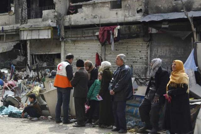 Yarmouk refugee camp (photo credit: REUTERS)