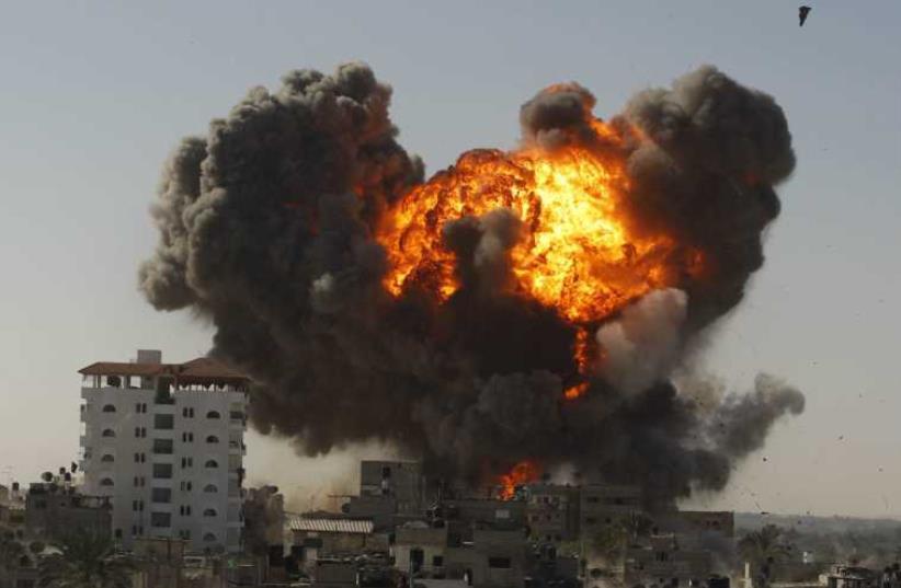Israeli air strike in Rafah. (photo credit: REUTERS)