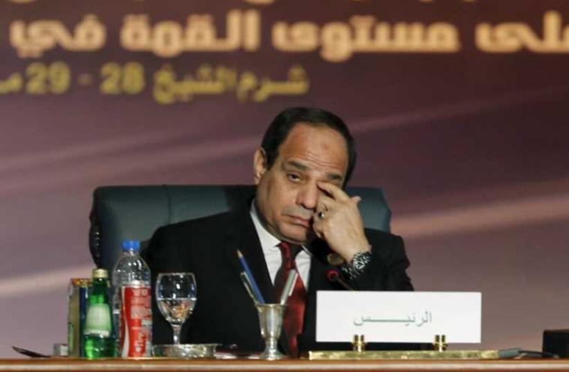 Egyptian President Abdel Fattah al-Sisi. (photo credit: AMR ABDALLAH DALSH / REUTERS)