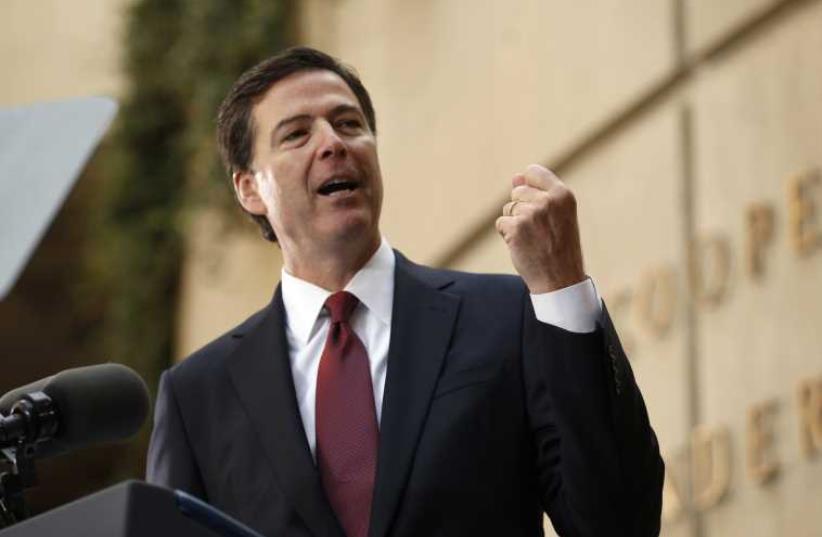 Former FBI Director James Comey (photo credit: REUTERS)