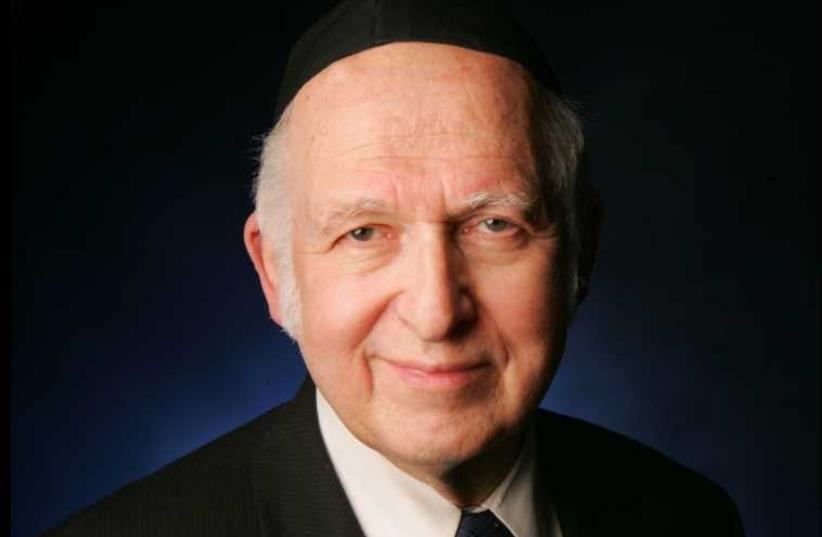Rabbi Dr. Aharon Lichtenstein (photo credit: Wikimedia Commons)