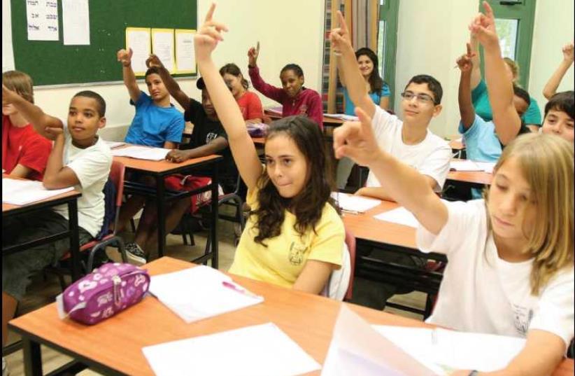 School children in class (photo credit: MARC ISRAEL SELLEM)