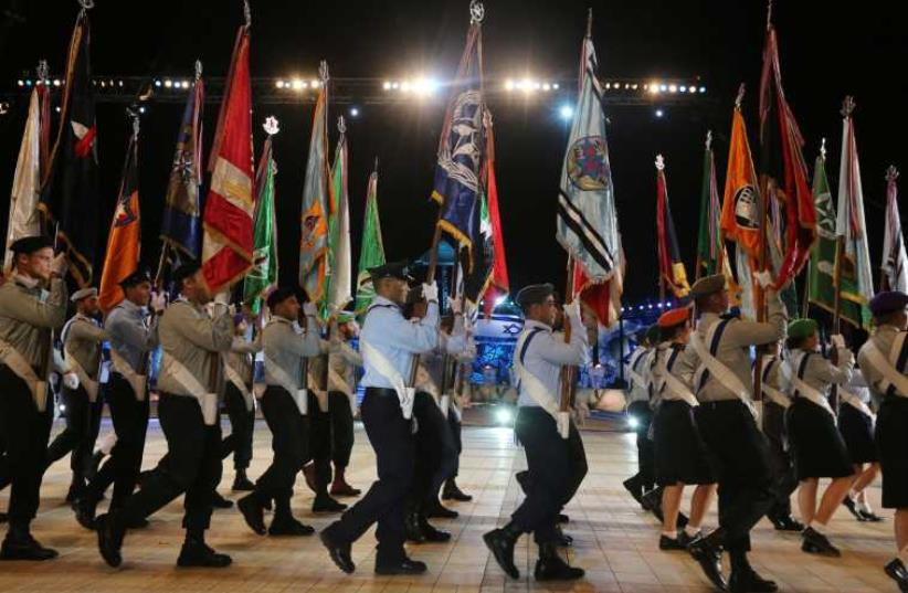 Independence Day evening ceremony (photo credit: MARC ISRAEL SELLEM/THE JERUSALEM POST)