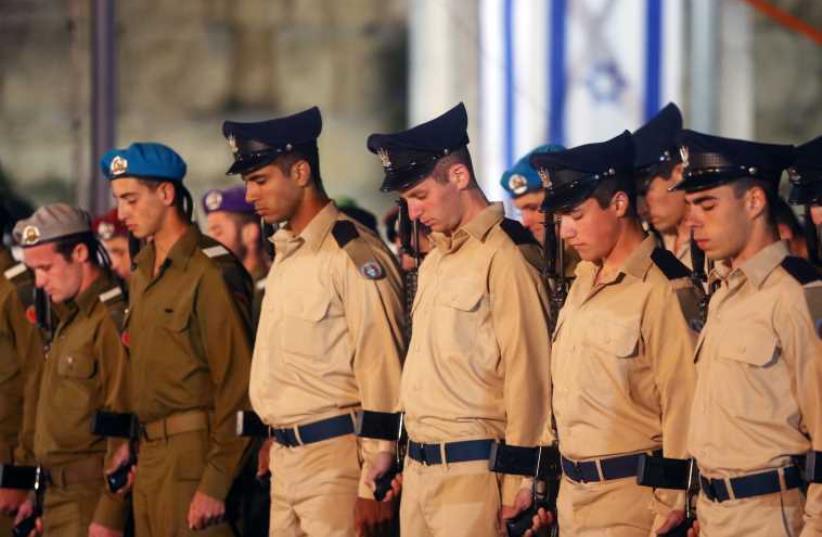 Israel's Remembrance Day ceremony in Jerusalem. (photo credit: MARC ISRAEL SELLEM/THE JERUSALEM POST)