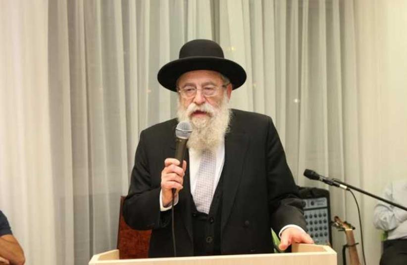 Chief Rabbi of Jerusalem Rabbi Arye Stern at Independence Day dinner, April 22, 2015 (photo credit: SHLOMI COHEN)