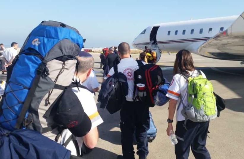 MDA rescue team heads to Nepal (photo credit: MAGEN DAVID ADOM)