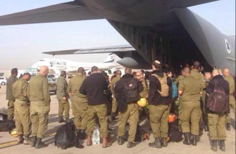 IDF rescue team heads to Nepal (photo credit: IDF SPOKESPERSON'S UNIT)