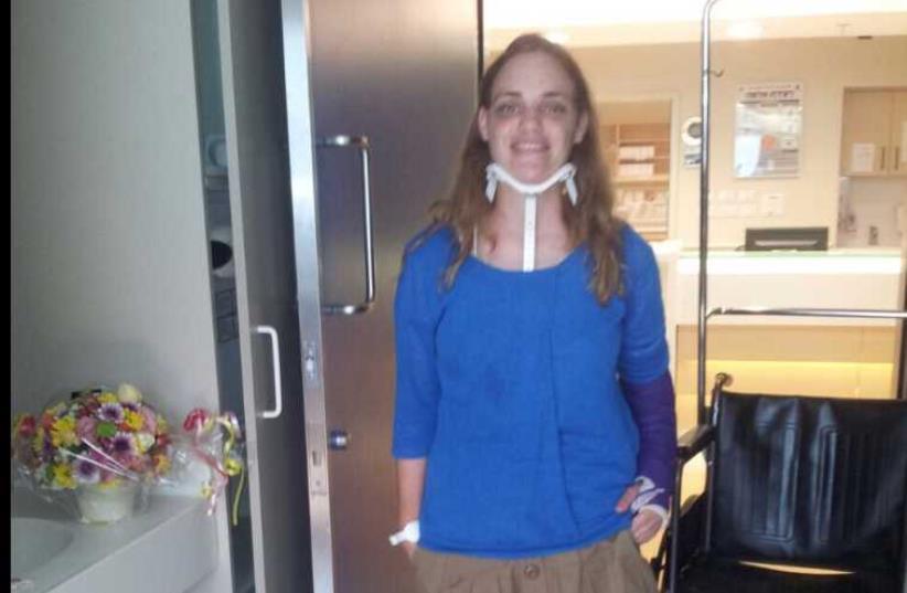 Shira Klien out of hospital (photo credit: HADASSAH)