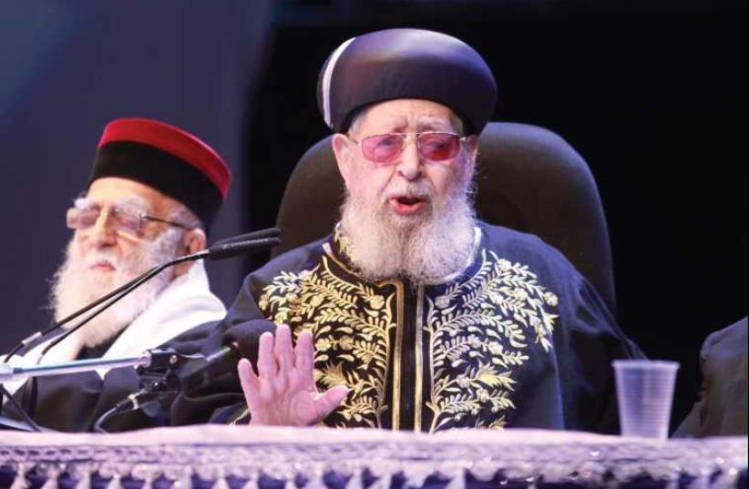 Rabbi Ovadia Yosef (photo credit: MARC ISRAEL SELLEM/THE JERUSALEM POST)