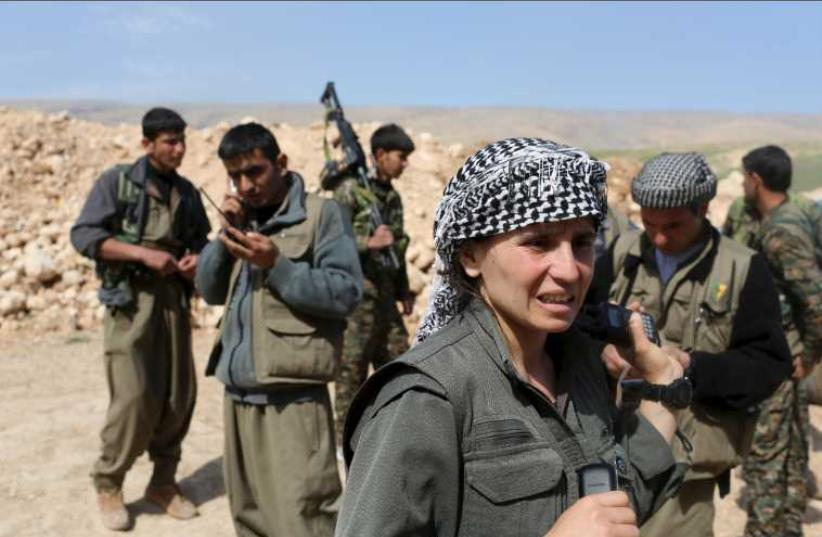 Kurdish Women Battle Islamic State. (photo credit: REUTERS)