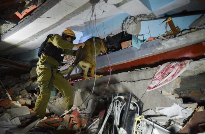IDF rescue team in Nepal (photo credit: IDF SPOKESMAN'S UNIT)