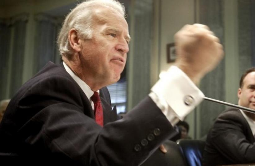 "JOE BIDEN: ""If you were attacked and overwhelmed, we would fight for you.""  (photo credit: REUTERS)"