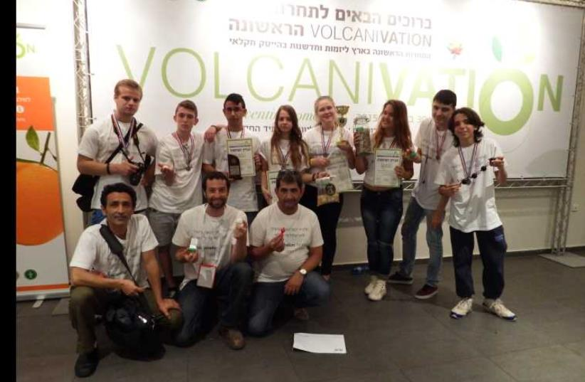 The winning team from Ayanot Youth Village (photo credit: COURTESY VOLCANI CENTER)
