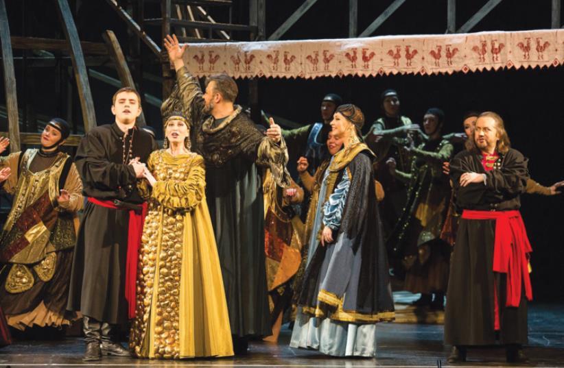 THE COMPANY of Rimsky-Korsakov's The Tsar's Bride performance at the the Israel Opera House (photo credit: Courtesy)