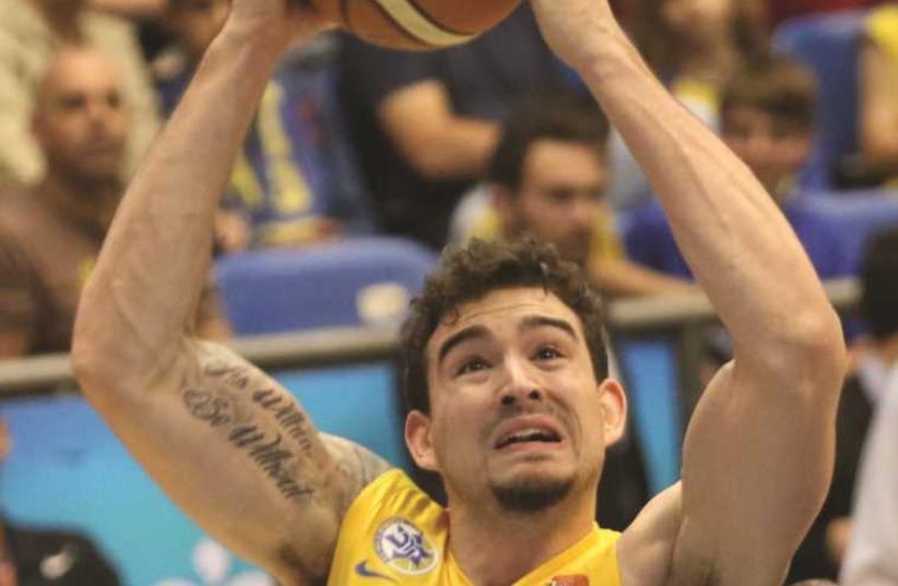 Maccabi Tel Aviv forward Joe Alexander (photo credit: ADI AVISHAI)