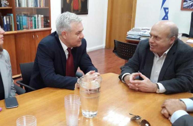 Jewish Agency Chairman Natan Sharansky and Angel Tîlvăr, Minister Delegate of Romanians Abroad (photo credit: COURTESY NATAN SHARANSKY)