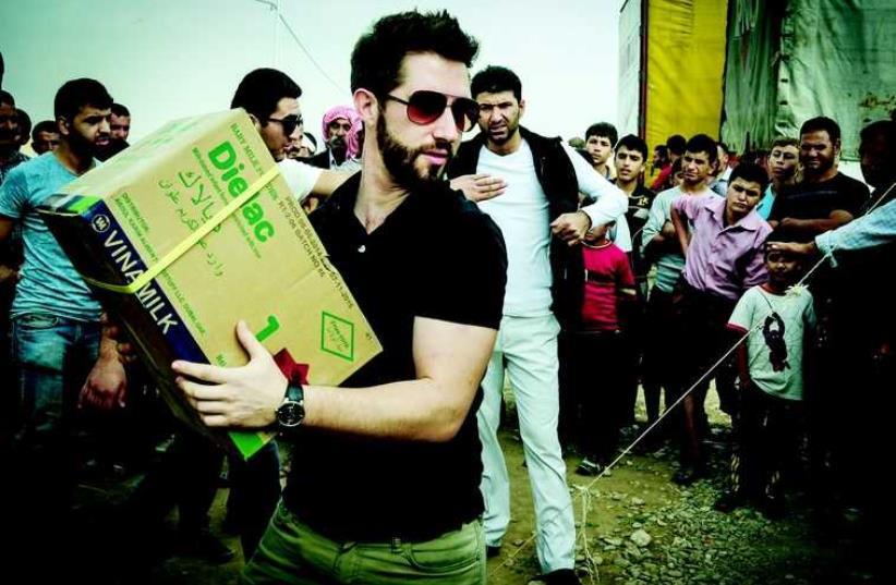 Navonel Glick au camp de Dohuk (photo credit: DR)