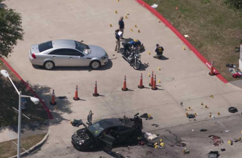 Texas shooting scene (photo credit: REUTERS)