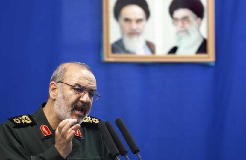 Hossein Salami, deputy head of Iran's Revolutionary Guard (photo credit: REUTERS)