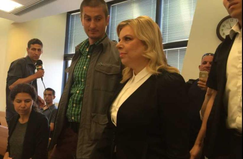 Sara Netanyahu  at the Jerusalem Labor Court, May 10, 2015 (photo credit: AVIRAM ZINO)