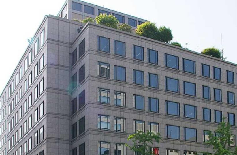 Takeda Pharmaceutical Company HQ, in Chuo-ku, Osaka, Japan (photo credit: Wikimedia Commons)