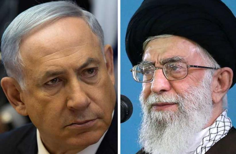 Netanyahu and Khamenei (photo credit: AFP PHOTO / HO / KHAMENEI.IR,AFP PHOTO / POOL / MENAHEM KAHANA)