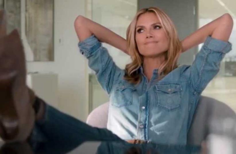 Wix commercial featuring supermodel Heidi Klum (photo credit: screenshot)