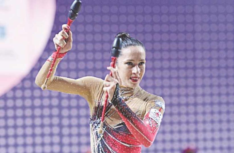 Israeli gymnast Neta Rivkin (photo credit: AMIT SHISEL)