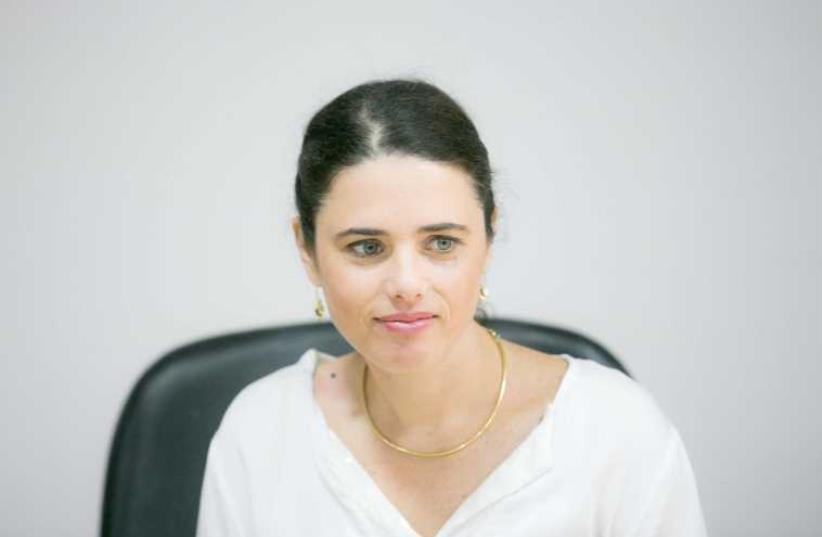 Ayelet Shaked (photo credit: NOAM MOSKOVICH)