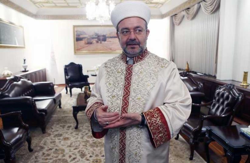 Mehmet Gormez, head of Turkey's Religious Affairs Directorate. (photo credit: ADEM ALTAN / AFP)