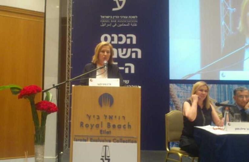 MK Tzipi Livni at the Israel Bar Association conference in Eilat. (photo credit: JEREMY BOB)