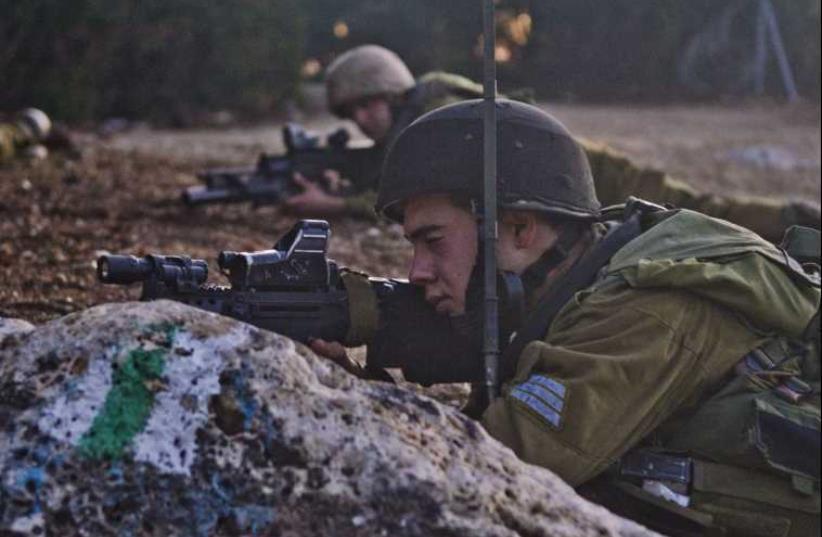 Sword Battalion holding a combat drill in 2013. (photo credit: IDF SPOKESMAN'S UNIT)