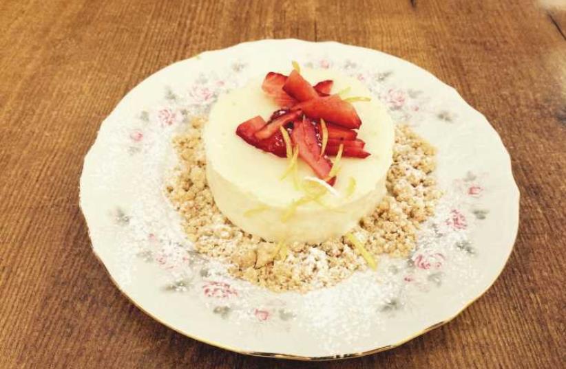Goat cheesecake (photo credit: GEDERA 26)
